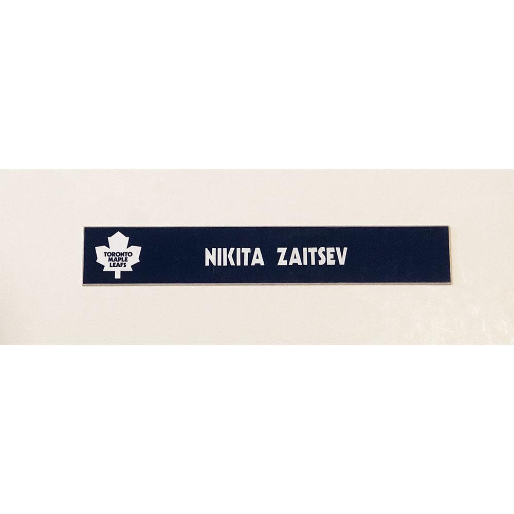 Nikita Zaitsev Toronto Maple Leafs Locker Room Used Nameplate