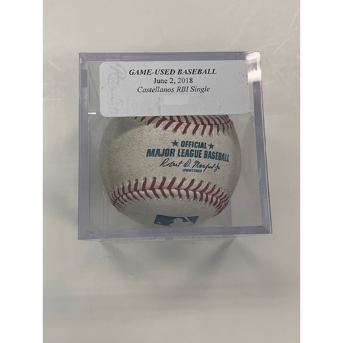 Photo of Game-Used Baseball: Jason Castro Single