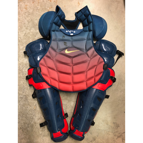 Photo of Team Issued Star and Stripes Catchers Gear: Mike Zunino