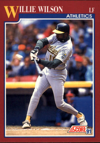 Photo of 1991 Score Rookie/Traded #15T Willie Wilson