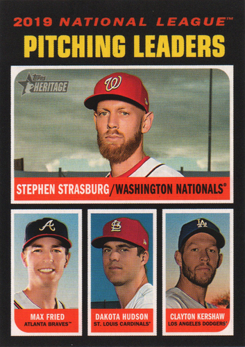 Photo of 2020 Topps Heritage #70 Clayton Kershaw/Dakota Hudson/Max Fried/Stephen Strasburg LL