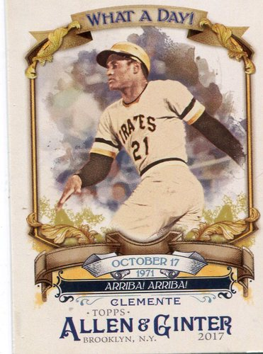Photo of 2017 Topps Allen and Ginter What a Day #WAD86 Roberto Clemente
