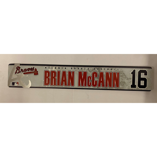 Photo of Brian McCann 2019 Game Used Locker Nameplate