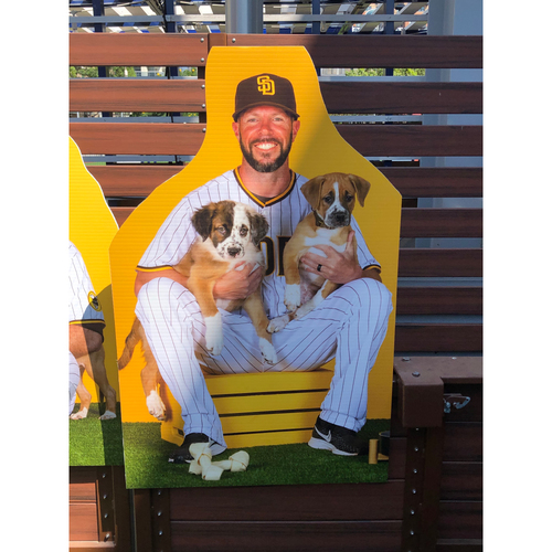 Photo of Jayce Tingler Autographed Pet Cutout (Not MLB Authenticated, COA Included) and PupBox