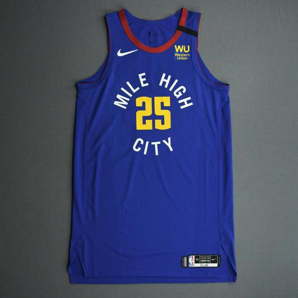 Image of Tyler Cook - Denver Nuggets - Game-Worn Statement Edition Jersey - Dressed, Did Not Play (DNP) - 2019-20 NBA Season Restart with Social Justice Mes...