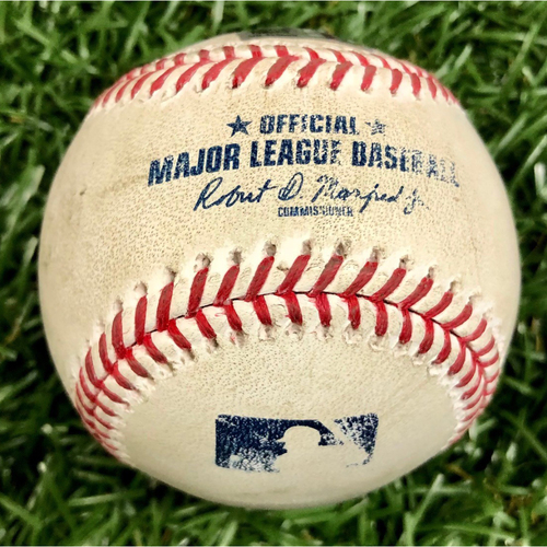 Photo of Game Used ALWC Game 2 Baseball: Joe Panik foul ball off Tyler Glasnow - September 30, 2020 v TOR