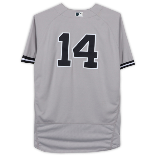 Photo of Neil Walker New York Yankees Game-Used #14 Gray Jersey vs. Toronto Blue Jays on March 29, 2018 - Size 46