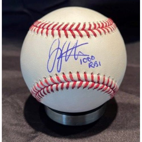 Photo of Joey Votto *Game-Used, Autographed & Inscribed* Baseball from 1,000th Career RBI Game - Vladimir Gutierrez to Fernando Tatis Jr (Strikeout); to Jake Cronenworth (Fly Out) -- 06/30/2021 - SD vs. CIN - Top 1