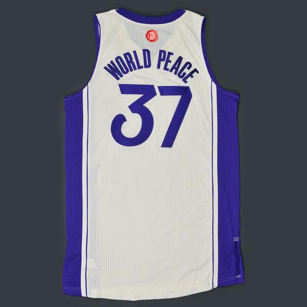 c3e1f3c9f Metta World Peace - Los Angeles Lakers - Game-Worn Jersey - NBA ...