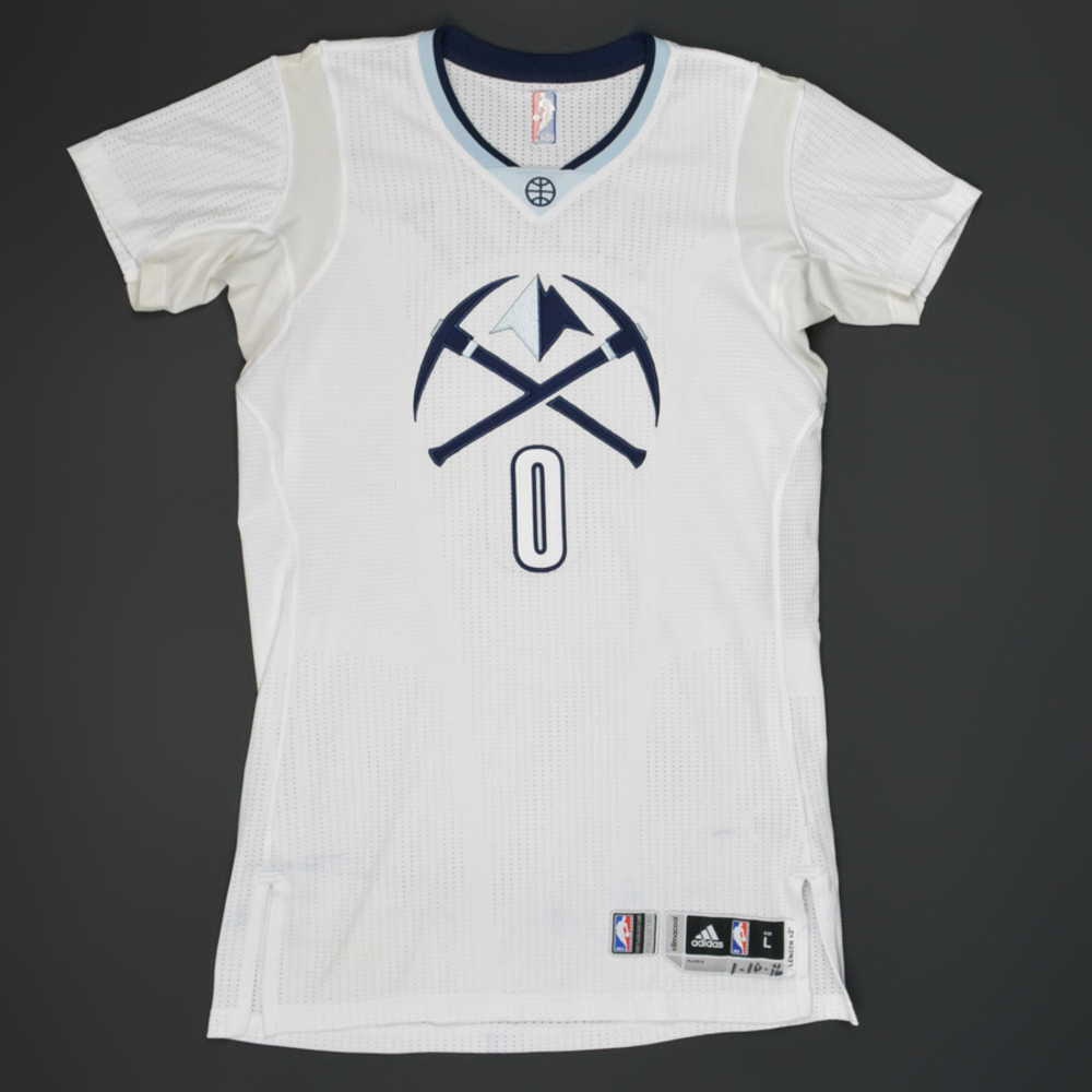 Denver Nuggets White Jersey: Game-Worn Whitegold