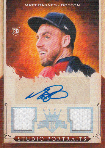 Photo of 2015 Diamond Kings Studio Portraits Signature Materials Silver #12 Matt Barnes/99