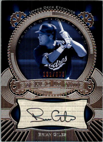 Photo of 2004 Upper Deck Etchings Etched in Time Autograph Black #BG Brian Giles/375