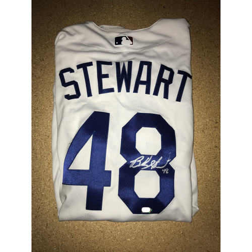 Photo of LA Dodgers Foundation Memorabilia Menu: Brock Stewart Authentic Autographed Jersey