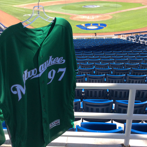 Photo of Jake Gatewood 2018 Team-Issued St. Patrick's Day Jersey