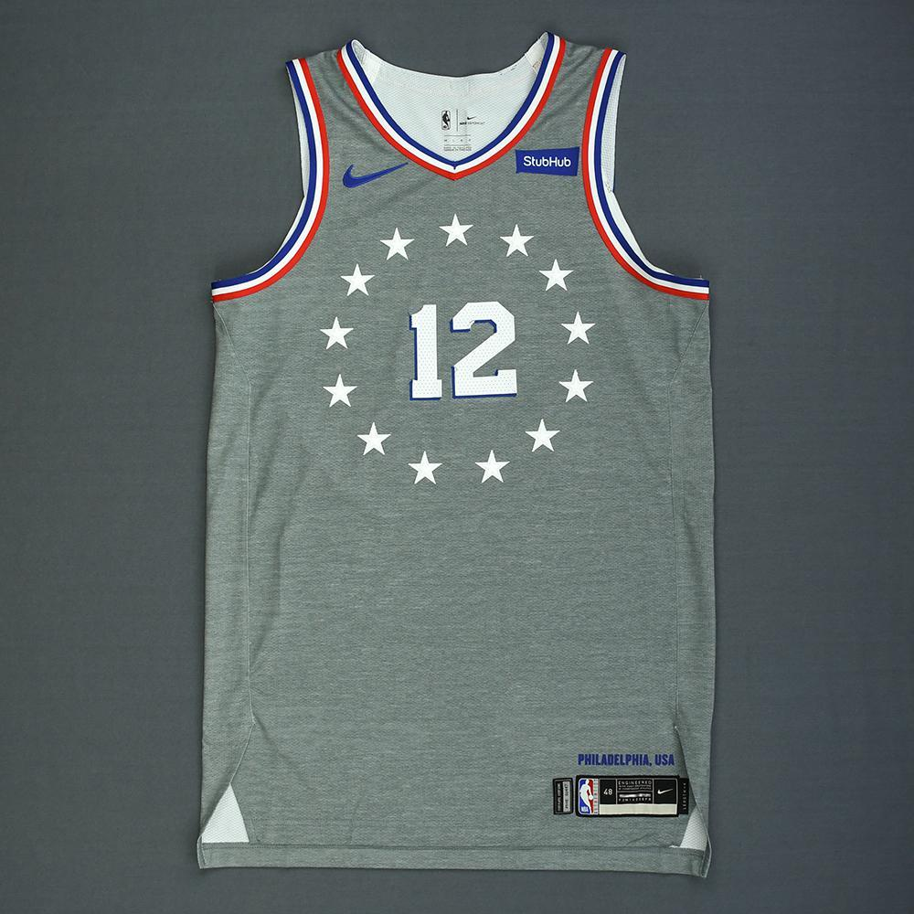reputable site 4f49b 402ff TJ McConnell - Philadelphia 76ers - Game-Worn City Edition ...