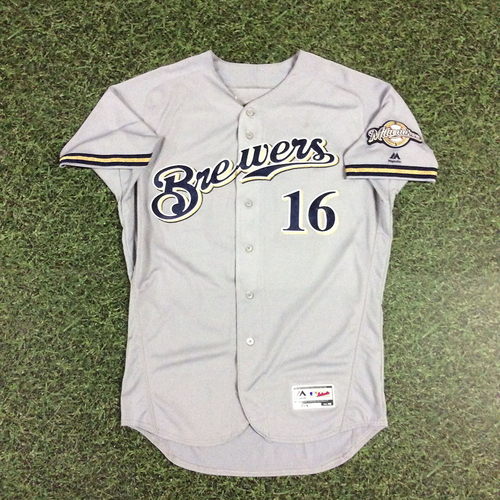 Photo of Domingo Santana 2018 Game-Used Opening Day Jersey