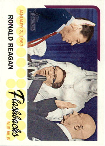 Photo of 2016 Topps Heritage News Flashbacks #NFRR Ronald Reagan