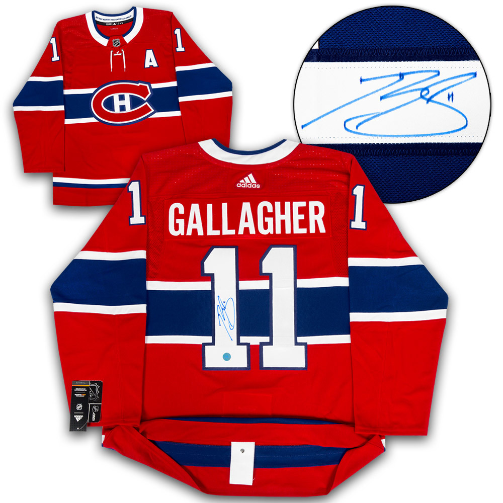Brendan Gallagher Montreal Canadiens Autographed Adidas Authentic Hockey Jersey