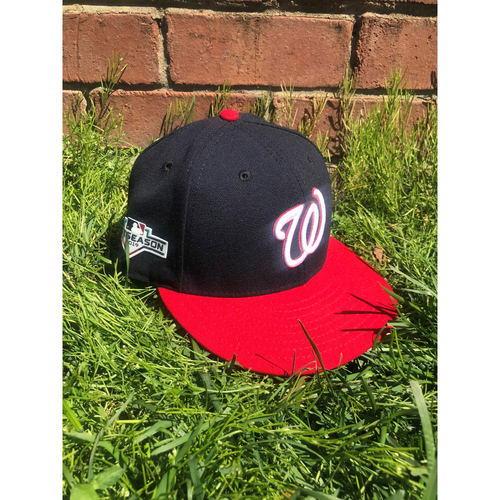 Photo of Tanner Rainey Game-Used Cap Worn 2019 NLCS