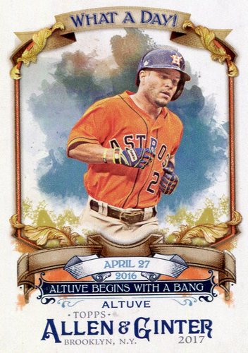 Photo of 2017 Topps Allen and Ginter What a Day #WAD91 Jose Altuve