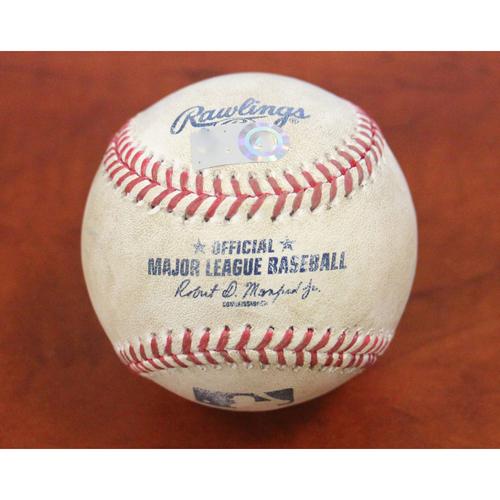 Photo of Game-Used Baseball: Pitcher - Sean Manaea | Batters - Fernando Tatis Jr Strikeout & Manny Machado Single - Top 1 - 9/5/20 vs SD