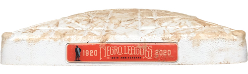 Photo of Game-Used 2nd Base -- Used in Innings 1 through 4 -- Negro Leagues 100th Anniversary -- Brewers vs. Cubs -- 8/16/20
