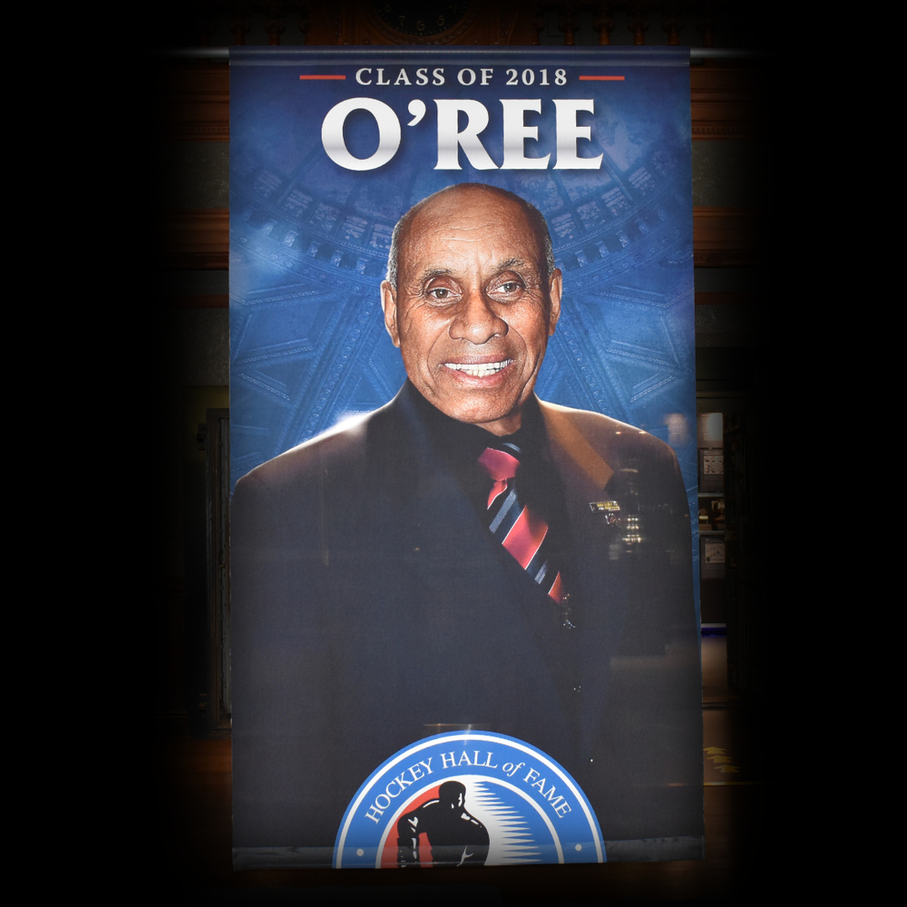Willie O'Ree Hockey Hall of Fame Class of 2018 Banner (5ft x 9ft) - Limited Edition 1/1