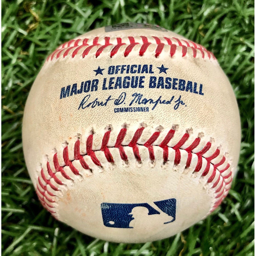 Photo of Game Used Baseball: Ji-Man Choi Foul Ball off Jonathan Holder - 6 Pitches - August 9, 2020 v NYY