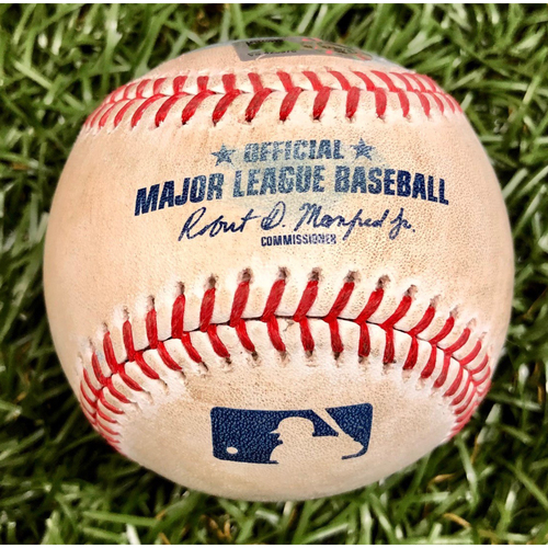 Photo of Game Used ALWC Game 2 Baseball: Hunter Renfroe foul ball off Hyun-Jin Ryu - September 30, 2020 v TOR
