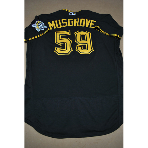 Photo of Joe Musgrove Team-Issued Road Black Jersey