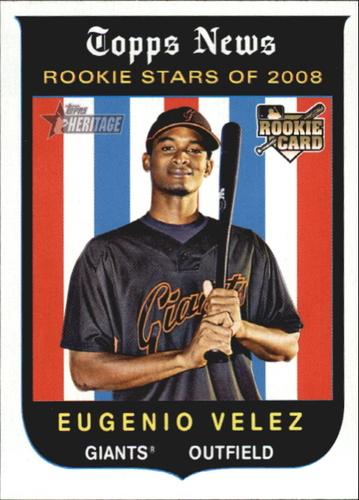 Photo of 2008 Topps Heritage #145 Eugenio Velez RC