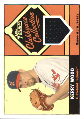 Photo of 2010 Topps Heritage Clubhouse Collection Relics #KW Kerry Wood