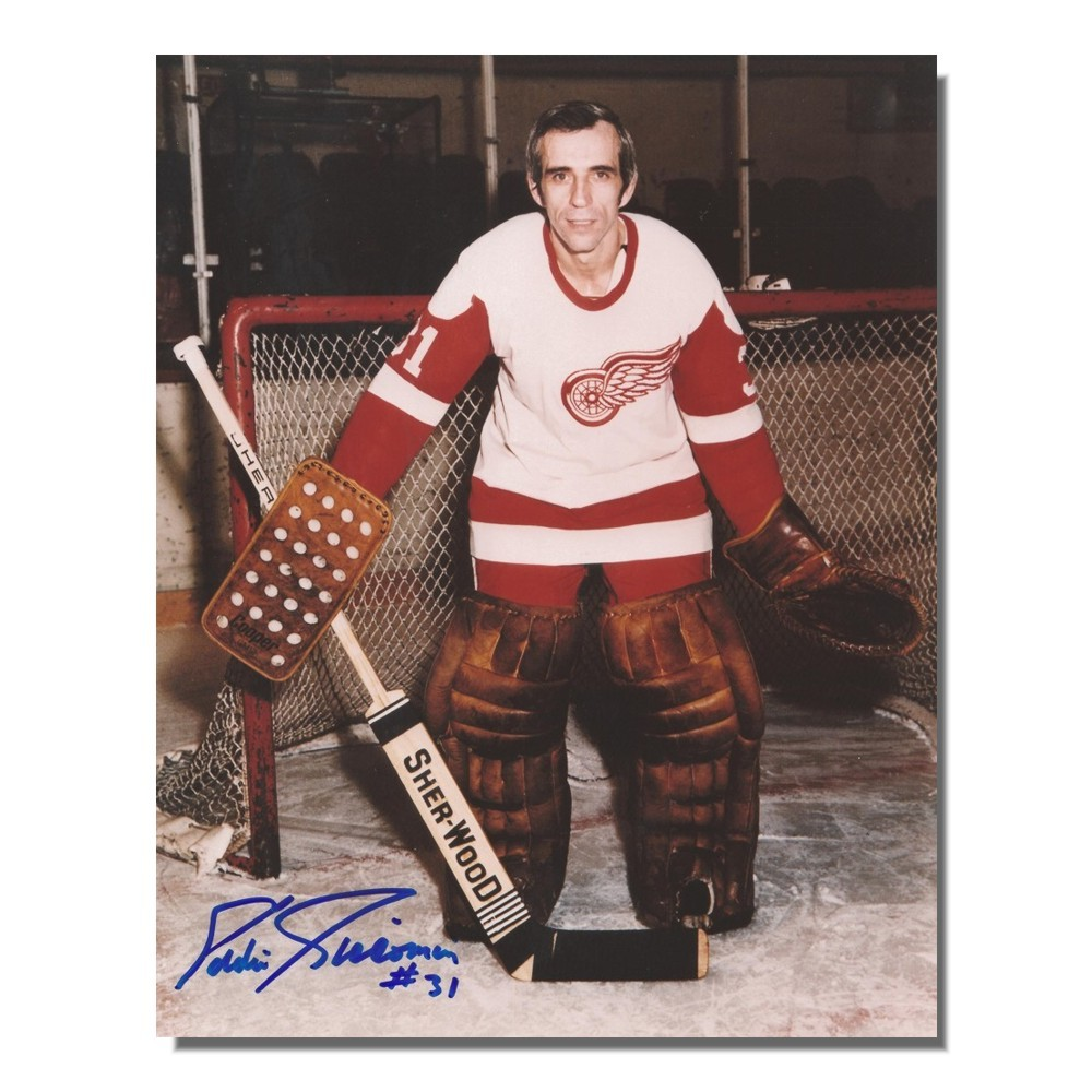 Eddie Giacomin Autographed Detroit Red Wings 8x10 Photo