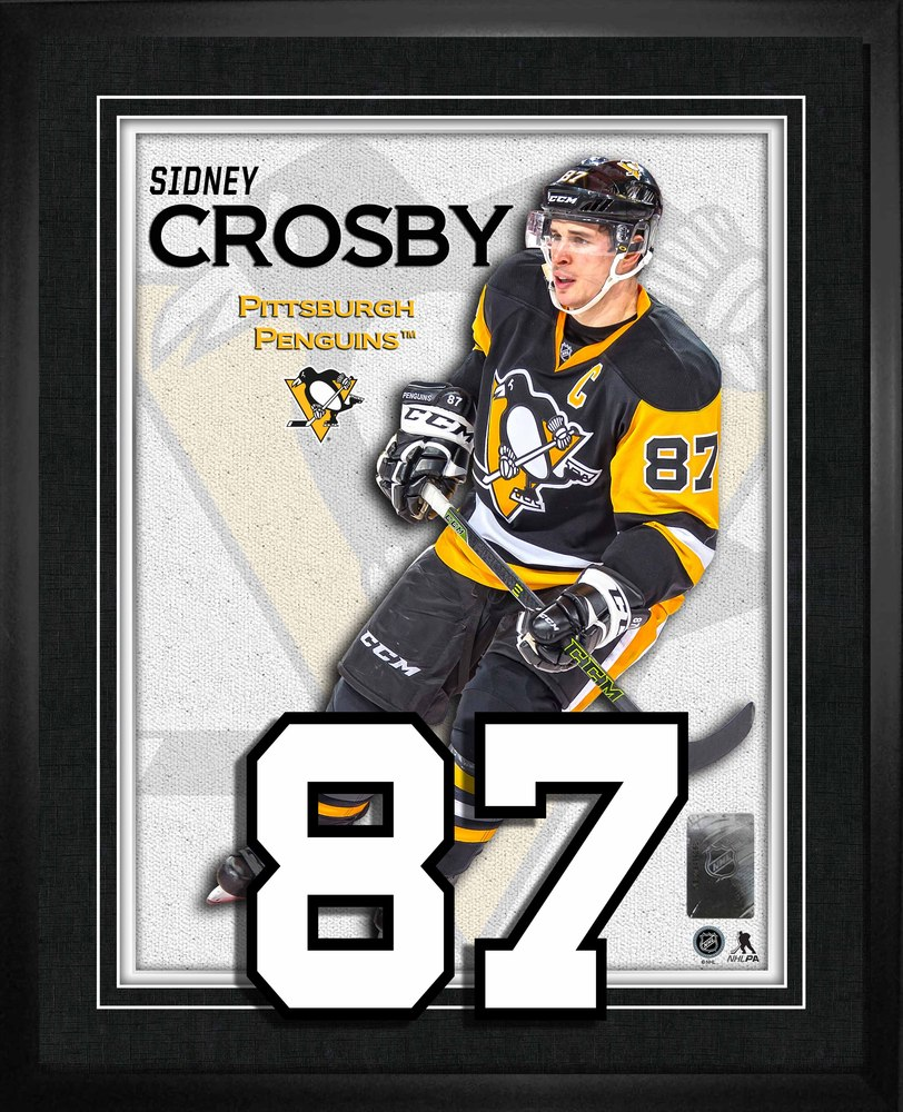 Sidney Crosby - Framed Numbers Pittsburgh Penguins