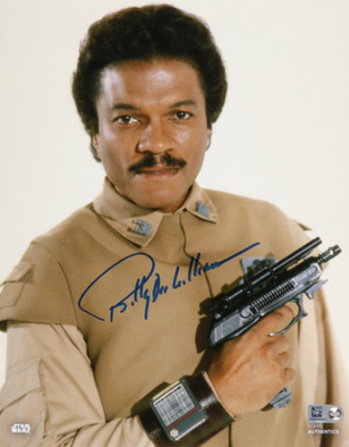 Billy Dee Williams as Lando Calrissian Autographed In Blue Ink 8x10 Photo