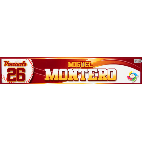 Photo of 2013 WBC: Venezuela Game-Used Locker Name Plate - #26 Miguel Montero