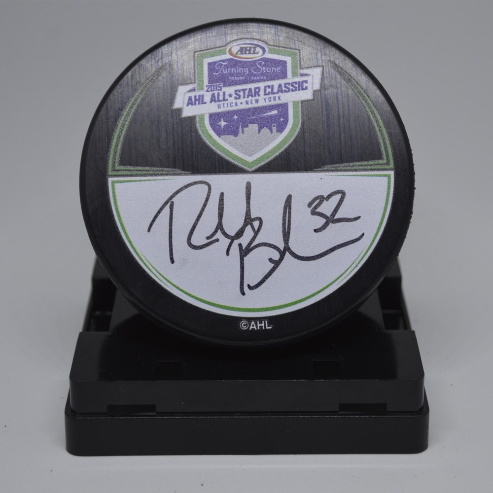 2015 AHL All-Star Classic Souvenir Puck Signed by #32 Richard Bachman