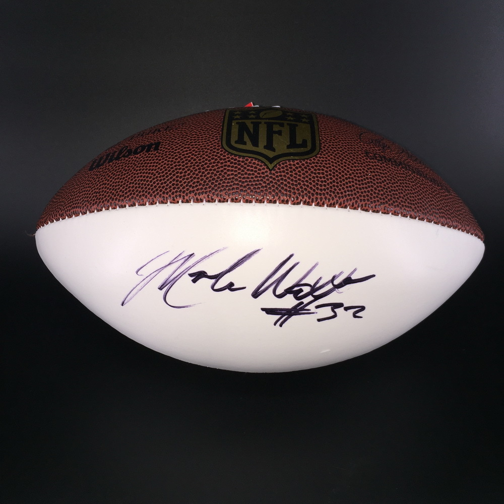 NFL - Jetss Mark Walton Signed Panel Ball