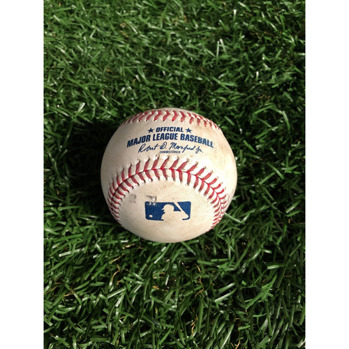 Photo of Game Used Baseball: Gary Sanchez single off Tyler Glasnow - May 10, 2019 v NYY