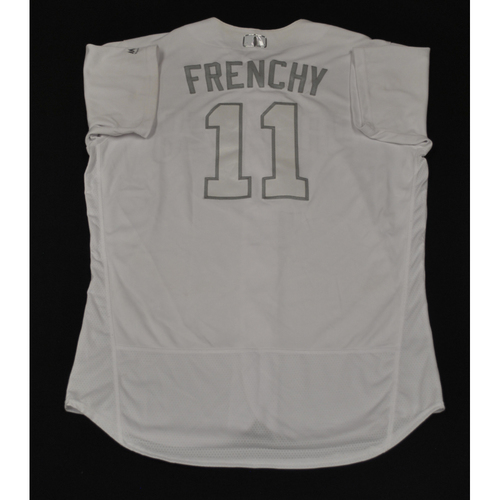 "Photo of Ty ""FRENCHY"" France San Diego Padres Game-Used 2019 Players' Weekend Jersey"