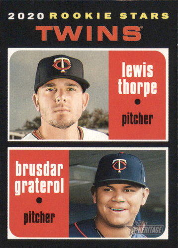 Photo of 2020 Topps Heritage #74 Lewis Thorpe RC/Brusdar Graterol RC