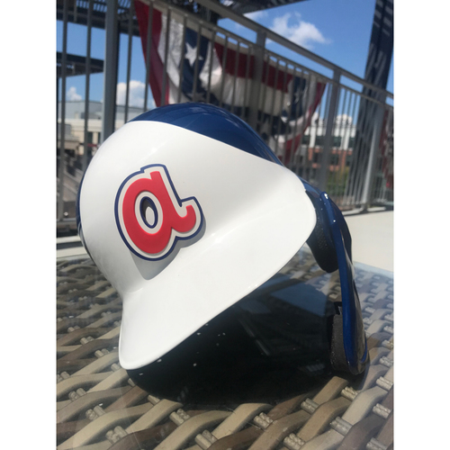 Dansby Swanson MLB Authenticated Throwback 1974 Team Issued Helmet