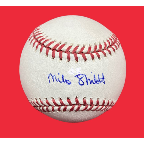 Photo of Mike Shildt Autographed Baseball