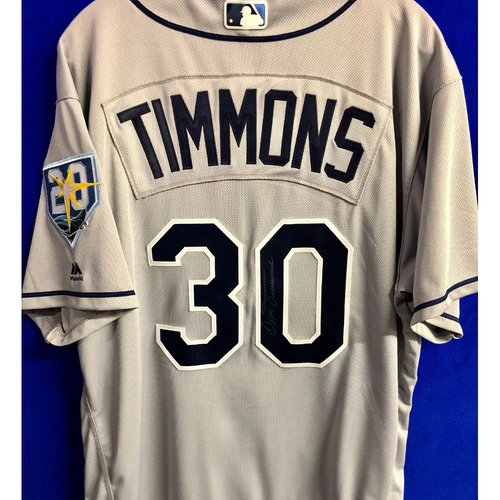 Photo of Team Issued 20th Anniversary Autographed Jersey: Ozzie Timmons