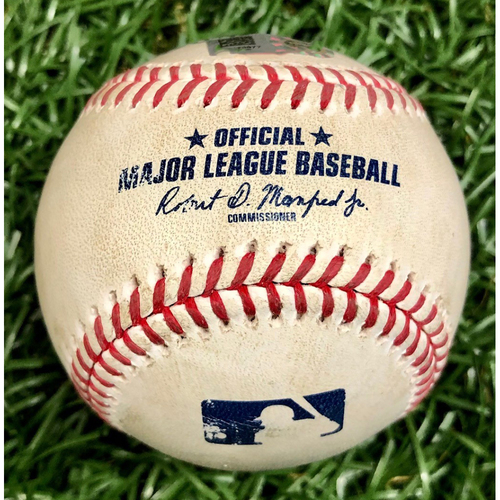 Photo of Game Used ALWC Game 2 Baseball: Vladimir Guerrero Jr. foul ball off Tyler Glasnow - September 30, 2020 v TOR