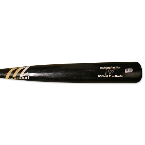 Todd Frazier #21 - Team Issued Full Bat - Black Marucci Model