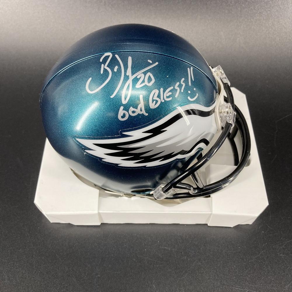 PCC - Eagles Brian Dawkins Signed Mini Helmet