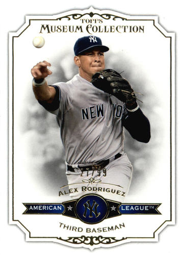 Photo of 2012 Topps Museum Collection Blue #90 Alex Rodriguez
