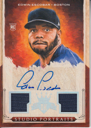 Photo of 2015 Diamond Kings Studio Portraits Signature Materials Silver #23 Edwin Escobar/99