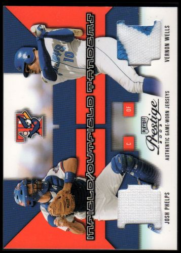 Photo of 2003 Playoff Prestige Infield/Outfield Tandems Materials #13 Josh Phelps Jersey/Vernon Wells Patch #